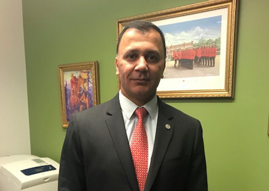 Supt. Dave Chauhan, IHIT's new officer-in-charge, in his office on July 24, 2019.