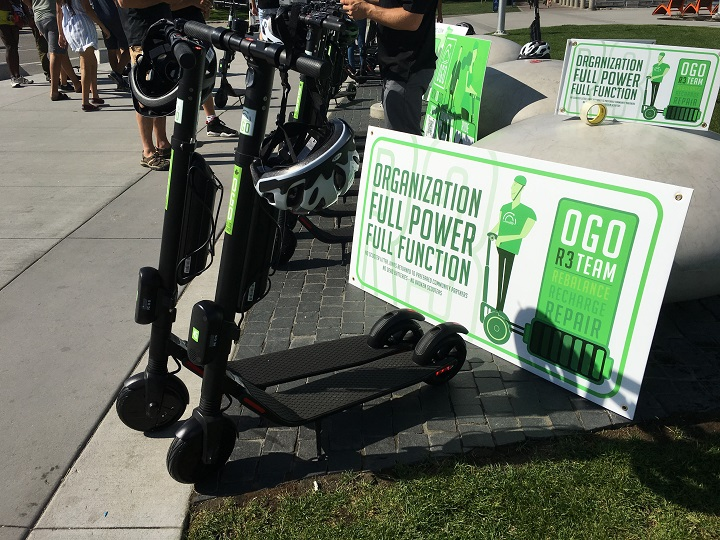 OGO Scooters is one of three electric scooter sharing businesses that have started operating in Kelowna since July.