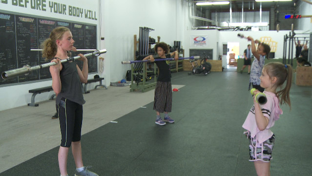 Several young girls are building their confidence and self-esteem through classes at a Pickering crossfit gym.