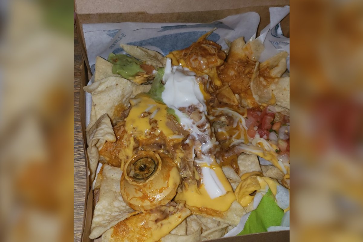 A woman claims Taco Bell served her a box of nachos with a knob in it in Fishkill, N.Y.