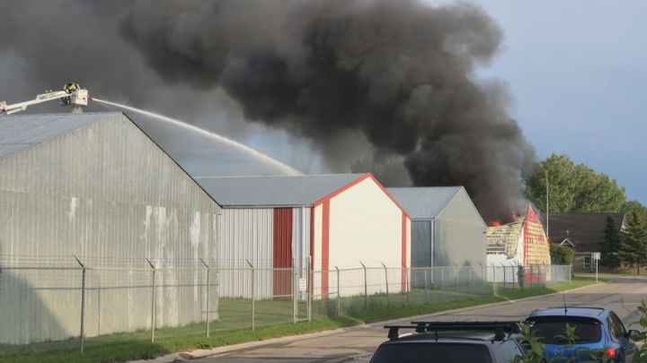 Three planes and a hangar were destroyed in a fire over the weekend at the Lacombe Regional Airport.