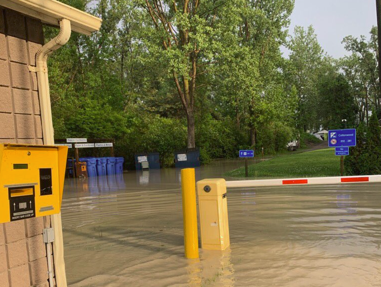All of Long Point's campground areas are now closed due to flooding.