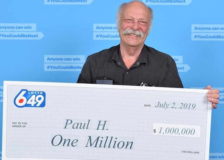 Paul Hutchen of Lumby matched all 10 numbers to win $1 million in the Lotto 6/49 draw on June 29.