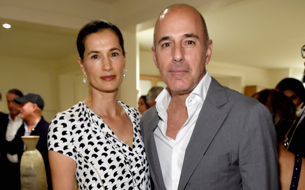 Annette Roque and Matt Lauer attend Apollo in the Hamptons 2017: hosted by Ronald O. Perelman at The Creeks on August 12, 2017 in East Hampton, New York.