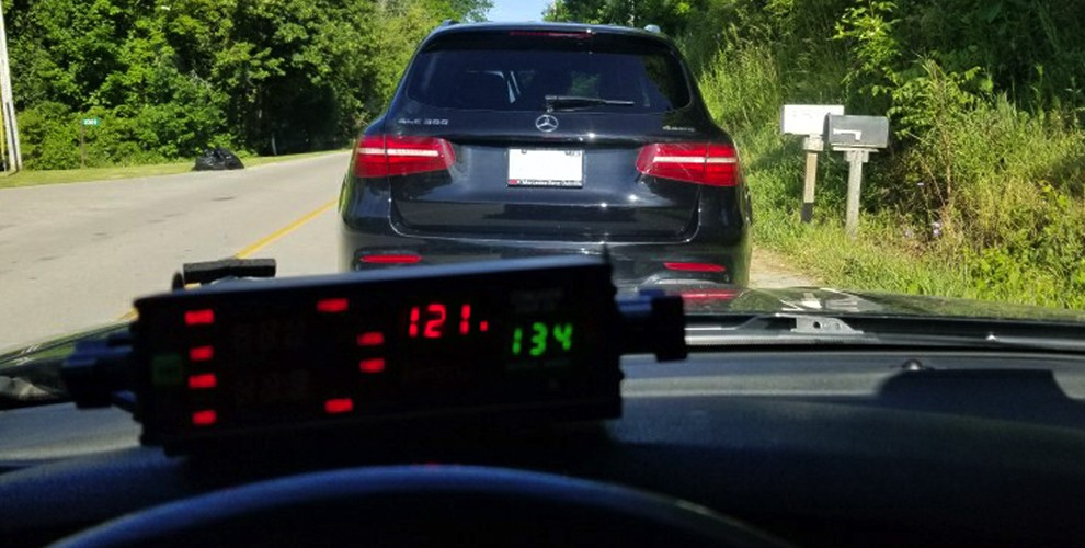 A driver lost their licence and use of a Mercedes after police say she was travelling at twice the speed limit in Southeast Hamilton on Monday.