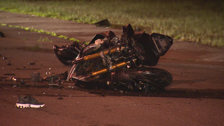 A photo from the scene of the collision in Etobicoke.
