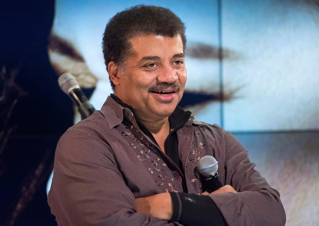 Neil deGrasse Tyson attends a fan event celebrating the release Kelly Clarkson's album 'Meaning of Life' at YouTube Space New York in New York on Nov. 1, 2017.