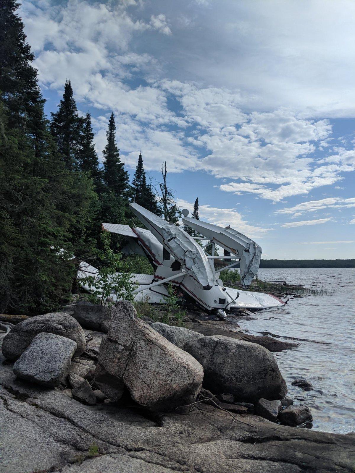 Pilot survives float plane crash near Little Grand Rapids - image
