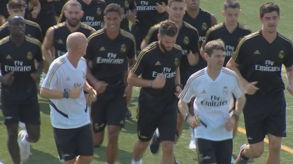 Real Madrid are practicing at the Montreal Impact's practice grounds.