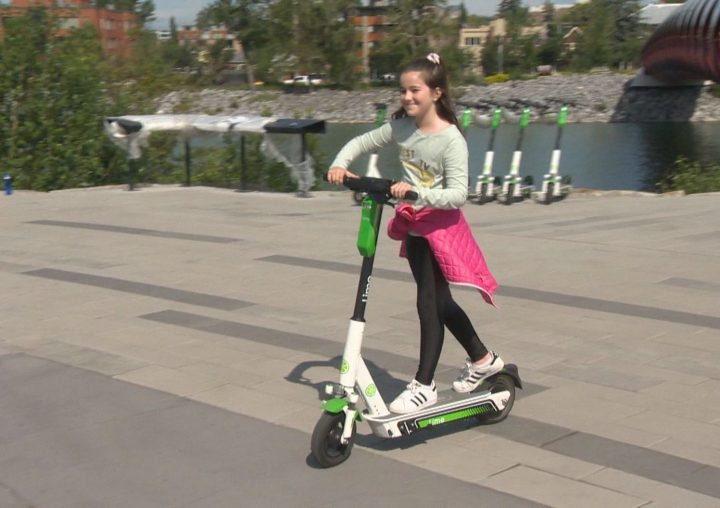 Lime scooters have arrived in Calgary.