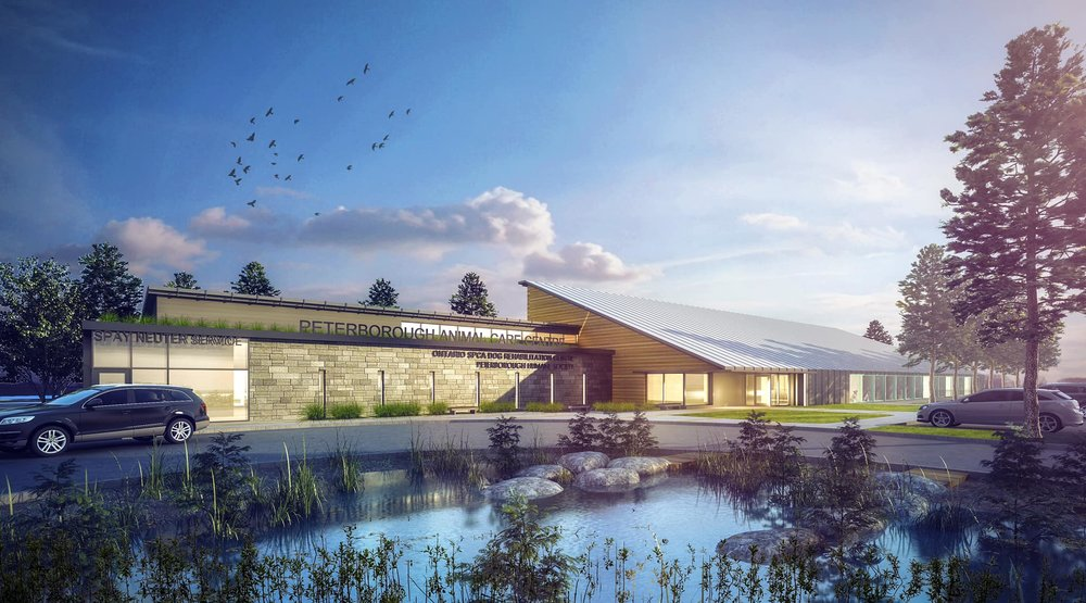 The design of a new animal care centre to be built on Technology Drive in Peterborough.