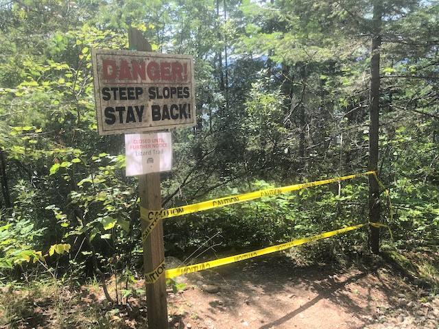 A Sicamous park has been closed pending a safety assessment after two fatal falls there this year.