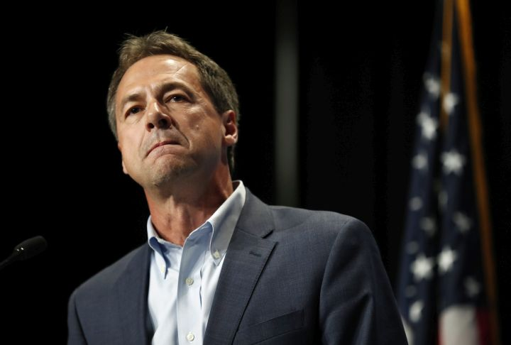 In this June 9, 2019 photo, Democratic presidential candidate Steve Bullock speaks during the Iowa Democratic Party's Hall of Fame Celebration in Cedar Rapids, Iowa.