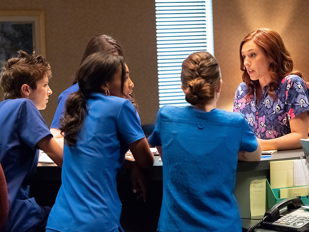 Actor Ashley Bratcher (R) is shown in a scene from 'Unplanned.' .