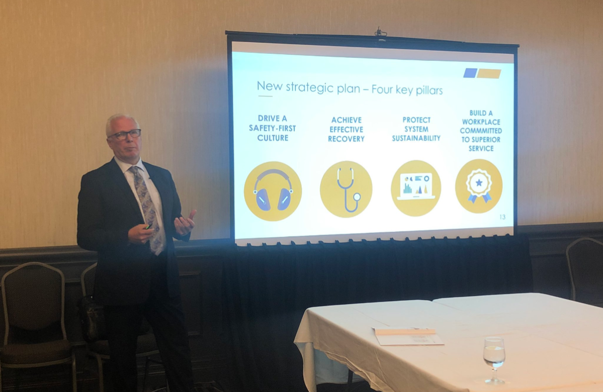 CEO and President Douglas Jones speaking about WorkSafe NB's new strategic plan.