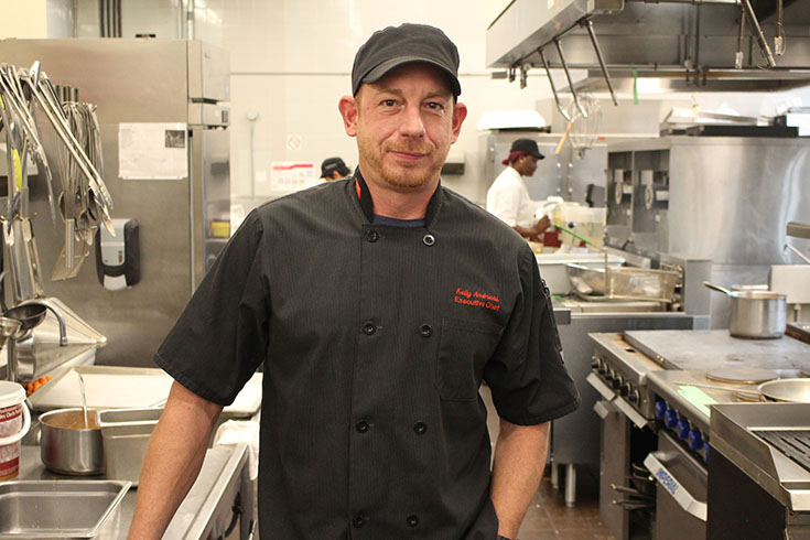 Diversity Food Services' Executive Chef, Kelly Andreas.
