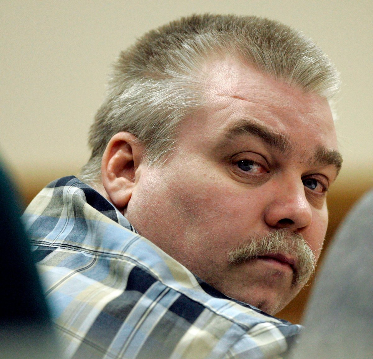 In this March 13, 2007, file photo, Steven Avery listens to testimony in the courtroom at the Calumet County Courthouse in Chilton, Wis.