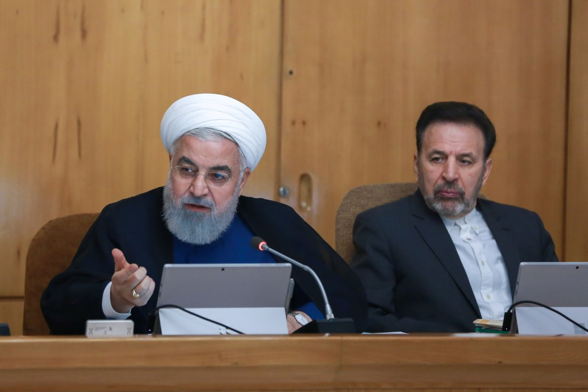 Iranian President Hassan Rouhani speaks during the Cabinet meeting in Tehran, Iran, July 31, 2019.
