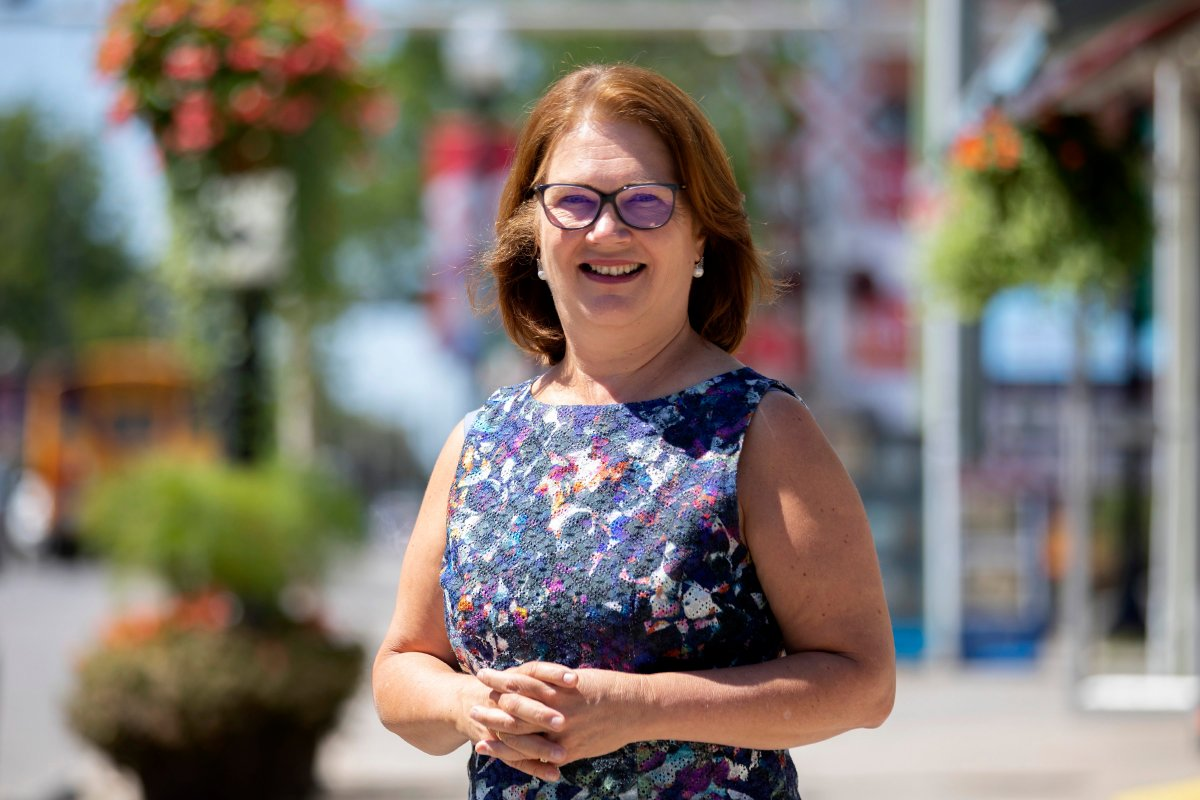 Former Liberal cabinet minister Jane Philpott is pictured outside her campaign office, in Stouffville, Ont., on Wednesday, August 14, 2019.
