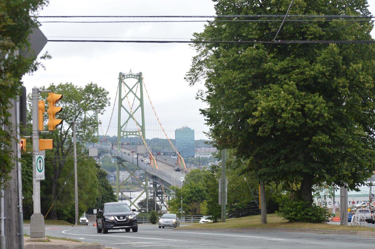 The Macdonald Bridge in Halifax, N.S. on Aug. 23, 2019.