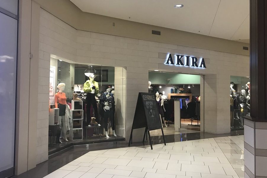 The Akira clothing store is shown at Orland Square Mall in Orland Park, Ill., in this file photo from Oct. 11, 2018.