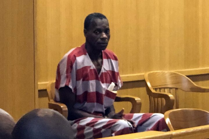 Alvin Kennard sits in the courtroom before his hearing in Bessemer, Ala., on Aug. 28, 2019.