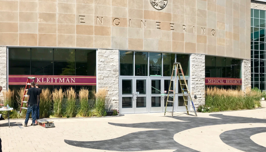 The Netflix movie Awake is being filmed in Hamilton and is using the Engineering building on campus, which has been renamed Kleitman Medical Research for the movie.