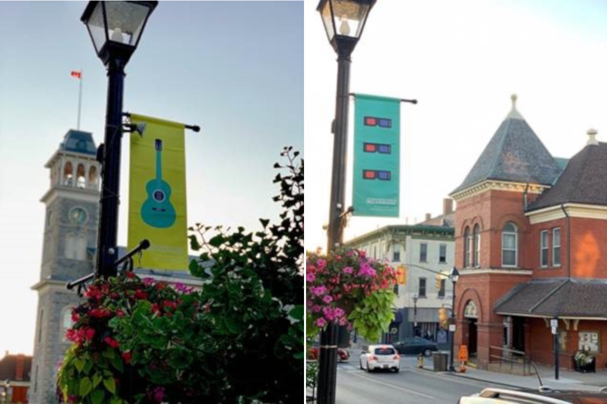The banners will appear in downtowns in Kitchener, Cambridge and Waterloo.