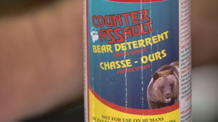 An example of bear spray.