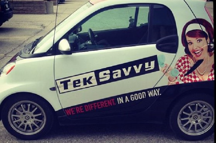 A TekSavvy vehicle is seen in a 2013 photo.