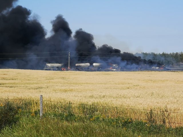 One person was killed and several others injured in a multi-vehicle crash near Cereal, Alberta on Tuesday, Aug. 20.