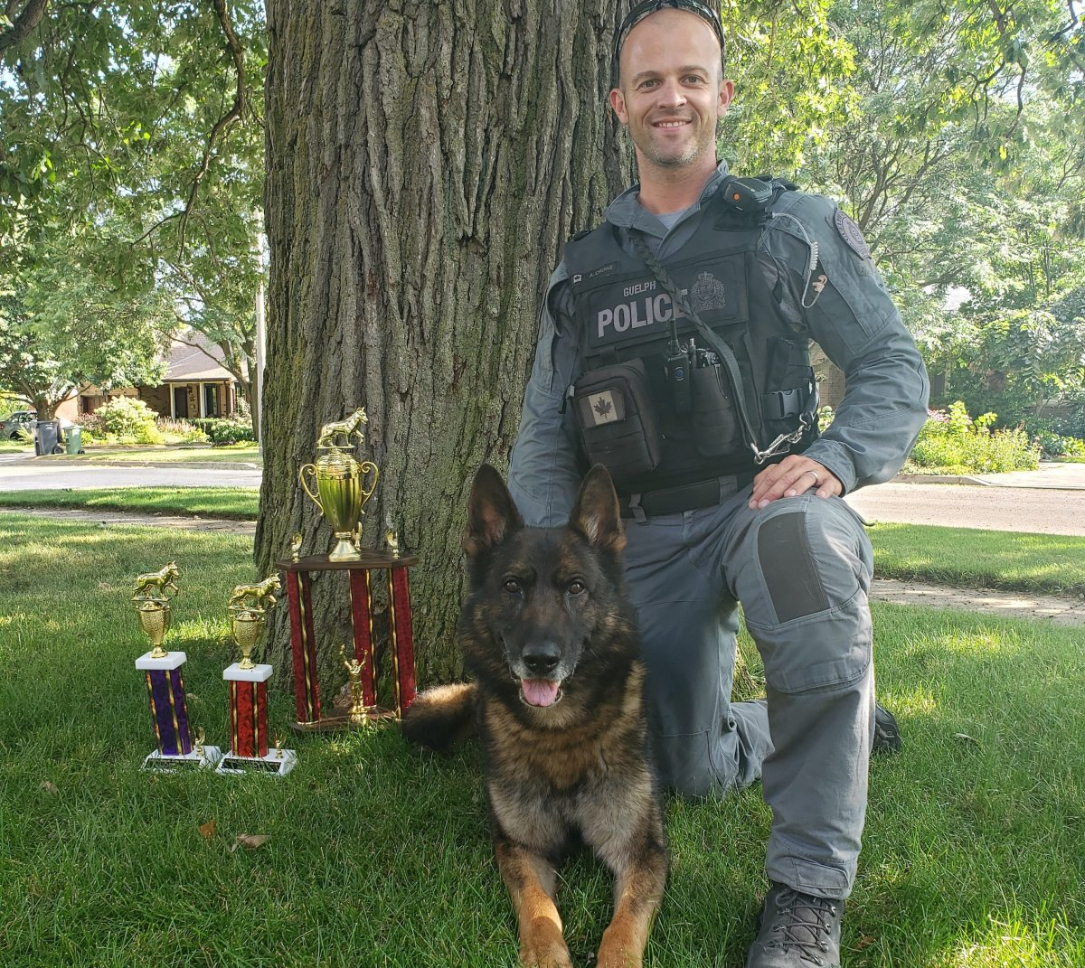 Police service dog Charger and Const. Andrew Crowe.