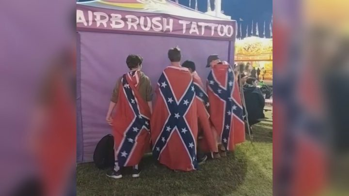 """An official with the Saskatoon Ex said the group is """"terribly sorry for the oversight"""" after a video appeared on Instagram."""