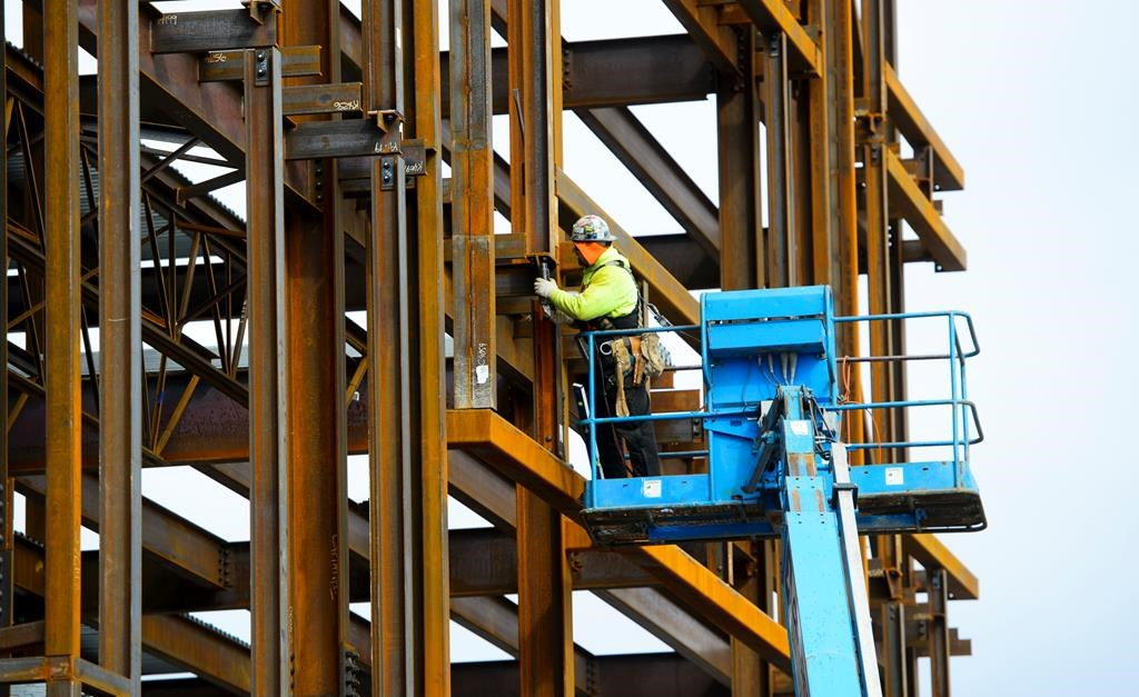 Canada lost 24,200 jobs last month and its unemployment rate moved up to 5.7 per cent to give the economy its weakest three-month stretch of job creation since early 2018. A steel worker builds a structure in Ottawa on Monday, March 5, 2018. Even with the July decline, compared to a year earlier, the numbers show Canada added a healthy dose of 353,000 new positions almost all of which were full time. THE CANADIAN PRESS/Sean Kilpatrick.