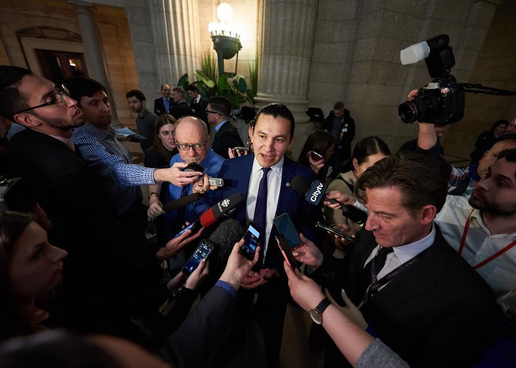 Manitoba NDP Leader Wab Kinew promised more money for infrastructure if elected.