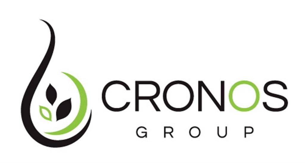 The Cronos Group logo is shown in a handout.