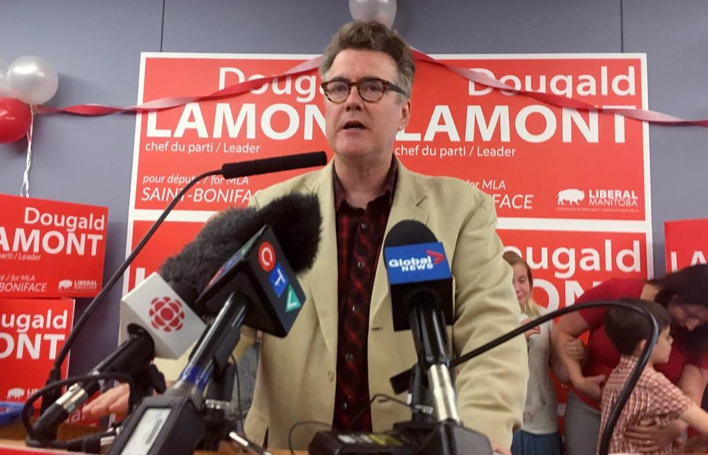 Manitoba Liberal Leader Dougald Lamont promised to raise the minimum to $15 an hour within two years of being elected.