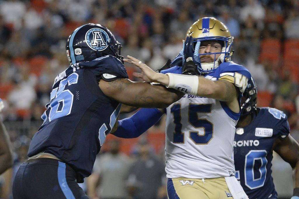 Former Winnipeg Blue Bombers quarterback Matt Nichols has signed a contract with the Toronto Argos.