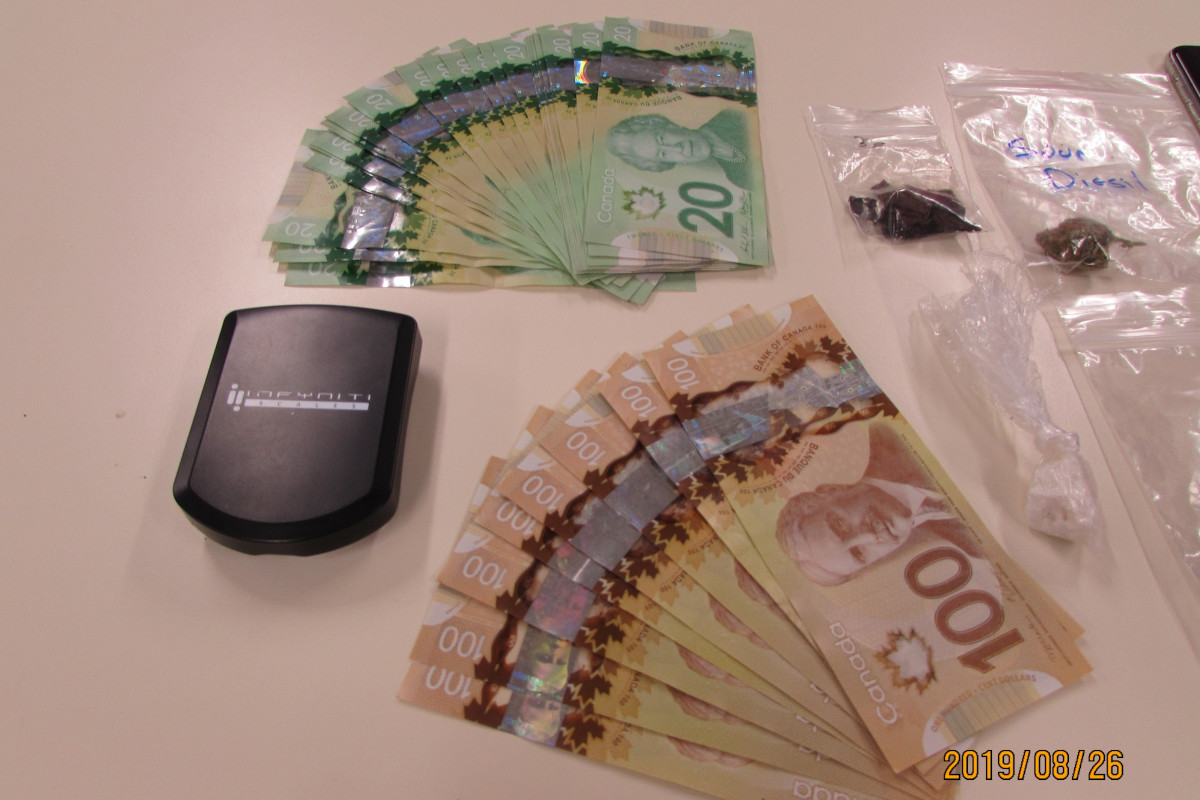 Waterloo Regional Police tracked the man down a short time later and seized crack cocaine, marijuana and psilocybin as well as a large amount of cash.