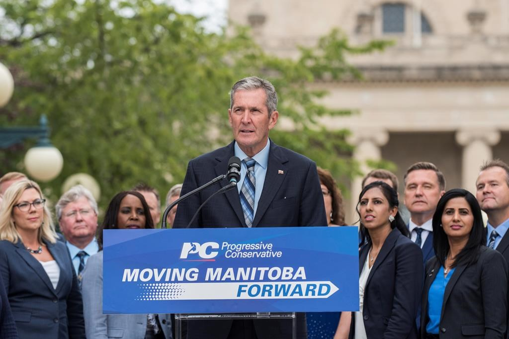 Progressive Conservative party leader Brian Pallister promised more money for Manitoba's.