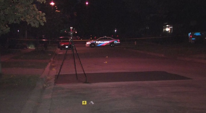 A man was injured after an overnight shooting in Etobicoke.