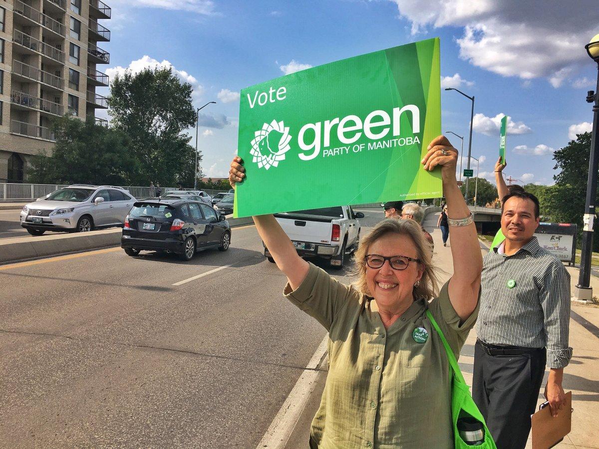 Federal Green Party leader Elizabeth May in Winnipeg.