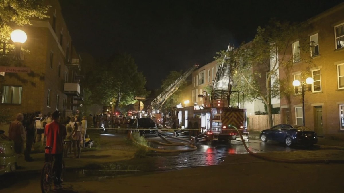 Two of the apartments reportedly suffered water damage.