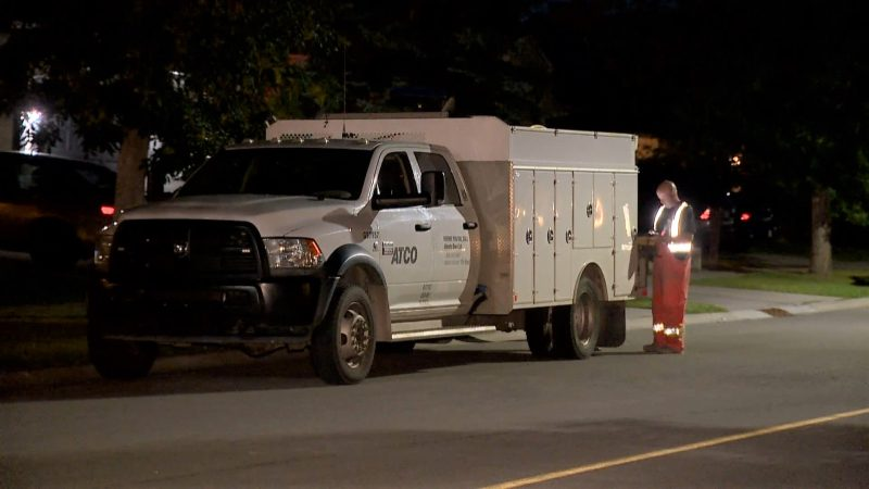 ATCO responds to the 200 block of Millrise Drive Southwest on Sunday, Aug. 18, 2019, for reports of a gas leak.