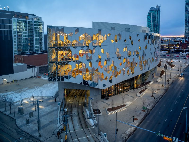 Interior of Calgary's Central Branch of the Calgary Public Library.