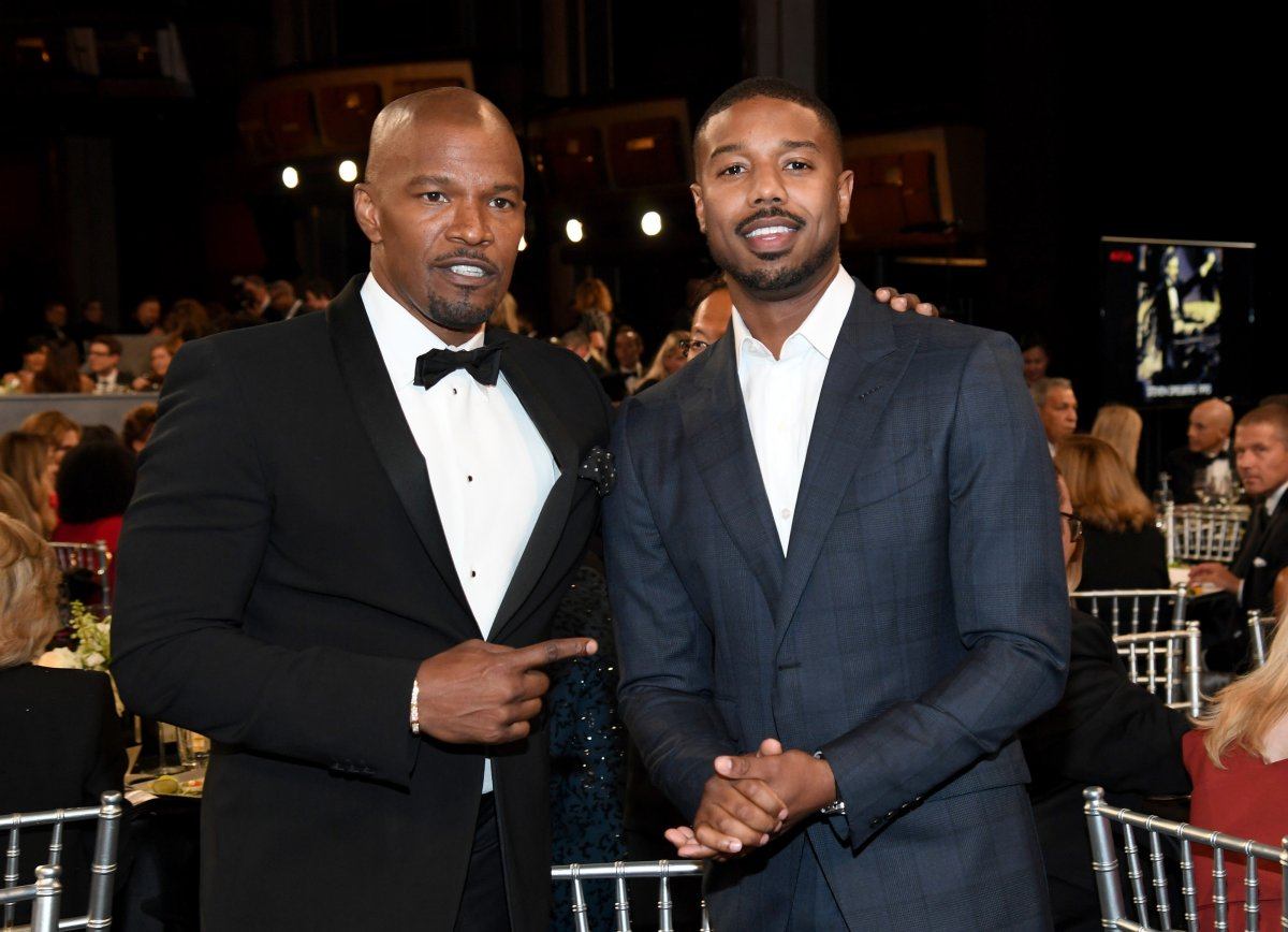 Jamie Foxx and Michael B. Jordan attend the 47th AFI Life Achievement Award honoring Denzel Washington at Dolby Theatre on June 06, 2019 in Hollywood, California.