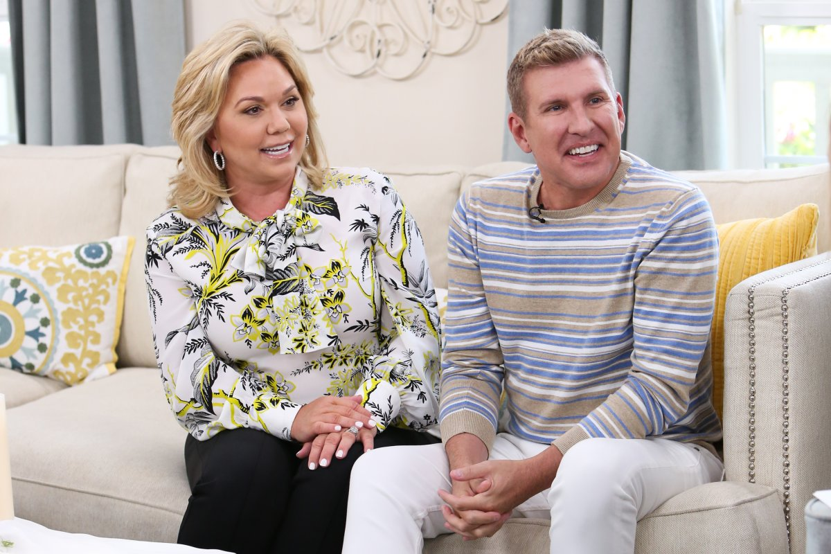 Reality TV personalities Julie (L) and Todd Chrisley (R) visit Hallmark's 'Home & Family' at Universal Studios Hollywood on June 18, 2018 in Universal City, Calif.