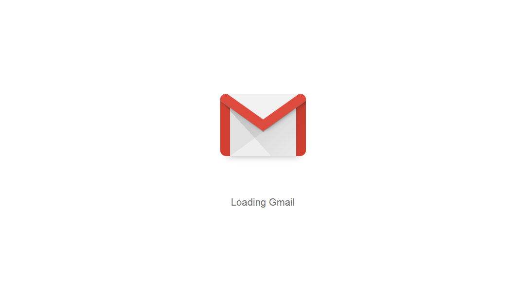 File photo of a Gmail loading window.