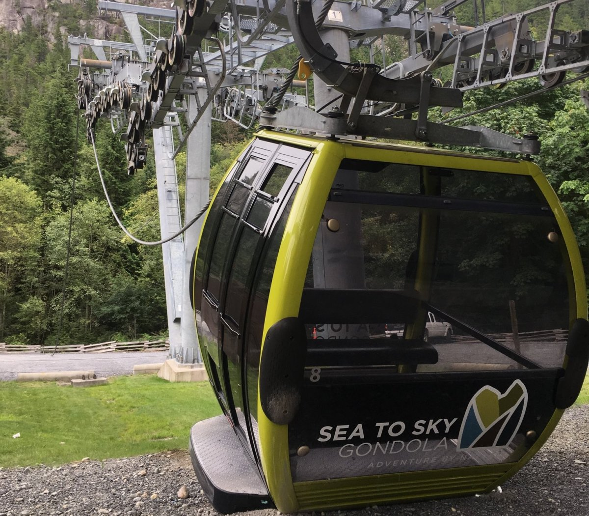 The Sea to Sky Gondola after its cable was deliberately cut on Aug. 10, 2019.