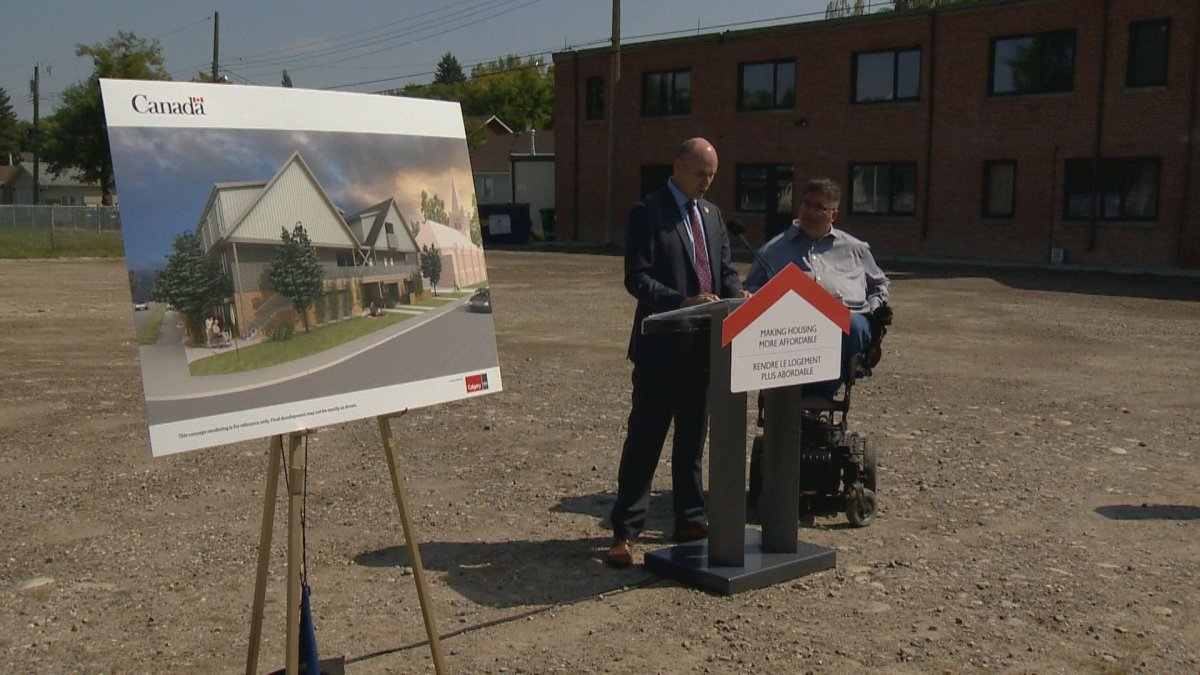 The federal government announces millions in funding for affordable housing in Calgary on Wednesday.